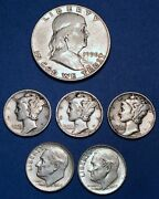 1 Face Value - 90 Silver U.s. Coin Lot - Half Dollars, Quarters, Or Dimes