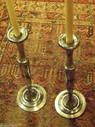 Derby Silver Plate Victorian Candlestick Set Extra Tall - Our Finethings4sale