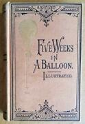 Five Weeks In A Balloon By Jules Verne - Osgood 2nd American Edition - 1873