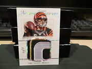 National Treasures Captainand039s Patch Jersey Bengals Andy Dalton 1/1 2015