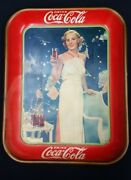 1935 American Art Works Coca Cola Serving Advertising Tray With Madge Evans