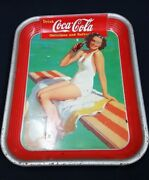 1939 American Art Works Coca Cola Serving Advertising Tray