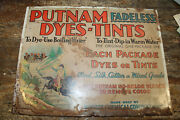 Vintage Early 1900s Putnam Fadeless Dyes Metal Sign Soldiers On Horseback