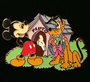 Disney Pin - Mickey Mouse And Pluto With Easter Basket Doghouse Le 250 - New