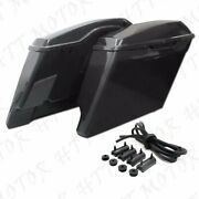 Motorcycle Extended 4 Stretched Saddlebag For Harley Touring 2014-2020