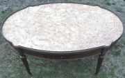 Antique French Louis Xvi Mahogany Marble And Brass Ormolu Coffee Table Awesome