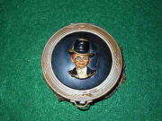 Vintage Charlie Mccarthy Ladies Rouge Compact 30s/40s Brass Mirror Puff Antique