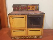 Antique Vintage Tin Kitchen Toy Wolverine Sunny Suzy Doll Oven Stove