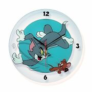 Tom And Jerry Silkscreen Print Glass Wall Clock Demons And Merveilles Tom And Jerry