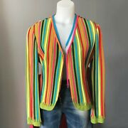Moschino Cheap And Chic Rainbow Shoe Laces Blazer Size It 44