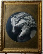 Beautiful 1890's Victorian Original Master Oil Painting After J.f. Herring Horse