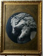 Beautiful 1890and039s Victorian Original Master Oil Painting After J.f. Herring Horse