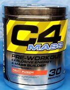 4x Cellucor C4 Mass Pre-workout Energy And Mass Builder Fruit Punch Past Date Deal