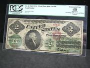 1862 2 Ty. 2 Seal Face Plate At Left Legal Tender Fr.41 - Pcgs - Xf 40