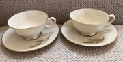 Lenox China Wheat Pattern R-442 - Cup And Saucer Lot Of 4