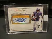 Panini Flawless Gold On Card Autograph Jersey Vikings Adrian Peterson 07/10 2015