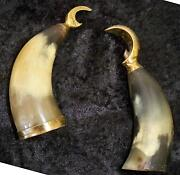 Vintage 1950's Danish Horn And Brass Bottle And Can Openers Denmark