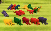 Vintage 1980's Lot Of Diener Dinosaur Erasers - Mixed Lot / Colors Qty 16