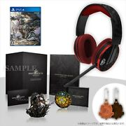 F/s Ps4 Monster Hunter World Collector's Edition Game Original Headset Headphone