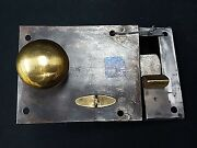 Early 1800s Authentic Metal And Brass Rim Lock