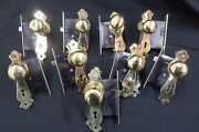 Antique Solid Brass Whole House 9 Door Plates Knobs And Mortise Locks Set