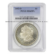 1882-o 1 Morgan Silver Dollar Pcgs Ms65pl Prooflike New Orleans Minted Gem