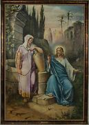 Jesus And Samaritan Woman Oil Painting Of Gustave Doreand039s Bible Illustration