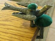 Antique Victorian Brass Sewing Bird Patened Feb 15 1853 2 Pin Cushions C Clamp