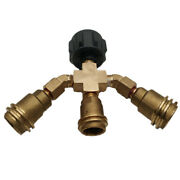 3y Way Propane Bottle Tank Splitter Qcc1 Type Rv's Or Home Propane Hose Adapter