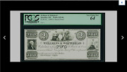 Pcgs 64 Choice. New Massillon Oh Wellmans = Whitehead 2 1800's Special Proof