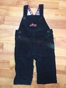 Janie And Jack Boys Sz. 3-6 Months Black Cord Firetruck Overalls