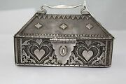 Traditional Handmade Alloyed Silver Antique Trinket Box Hand Engraved Designs