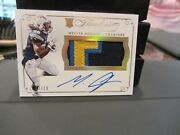 Panini Flawless Gold On Card Autograph Jersey Chargers Melvin Gordon 03/10 2015