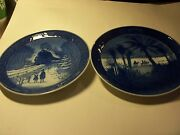 Pair Of Royal Copenhagen Decorative Plates In The Desert And Going Home For Xmas