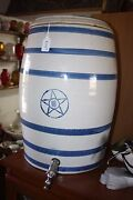 Vintage Star Stoneware Company 6 Band 10 Gal. Crock Water Cooler With Spigot