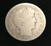 1897-s G/ag 50andcent Barber Half Dollar