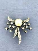Broach/neckless 1ct Diamonds With Mother Of Pearl Antic Broach Gold