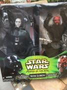 Star Wars Power Of The Jedi Sith Lords Action Figures Darth Vader Darrh Maul