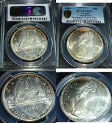 1966 Canada Dollar Mint Error Pcgs Ms-62 Incomplete Punch Planchet