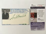 Louis Hayward Signed Autographed 3x5 Card Jsa Certified