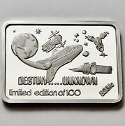 Green Country Mint Gcm Destiny Unknown 1 Oz .999 Fine Silver Bar Rare Only 100