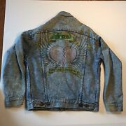 Vintage Leviand039s Jacket - Menand039s Size Small - Made In Usa W/ Poison Fan Drawing