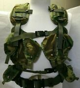 1991 Military Vest Tactical Load Bearing Us Army Camouflage F.c.i. Free Ship U.s