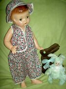 Darling 19 Tall Compo Effanbee Patsy Ann Doll And Book Labeled Original Outfit