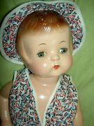 Darling 19 Tall, Compo Effanbee Patsy Ann Doll And Book, Labeled Original Outfit