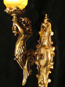 Single Wall Light Sconces Bronze Mermaid Sculpture Made By Artist In America