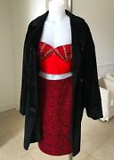 Versus By Gianni Versace Black Faux Fur Womenand039s Coat Size It 44 From 1995