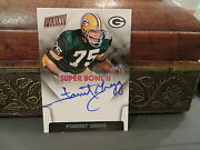 National Treasures Super Bowl Ii On Card Autograph Packers Forrest Gregg 2015