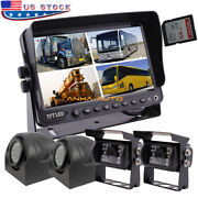7 Monitor With Dvr Recorder Rv Truck Trailer Backup Rear View Camera System
