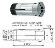 62 Pc. 3/64 To 1 X 64ths 5c Precision Round Collet Set - 0.0004 Concentricity
